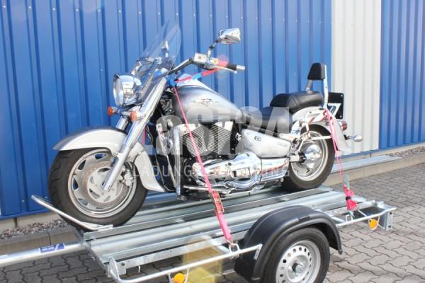Motorradgurt vorn + hinten, Zurrsystem komplett
