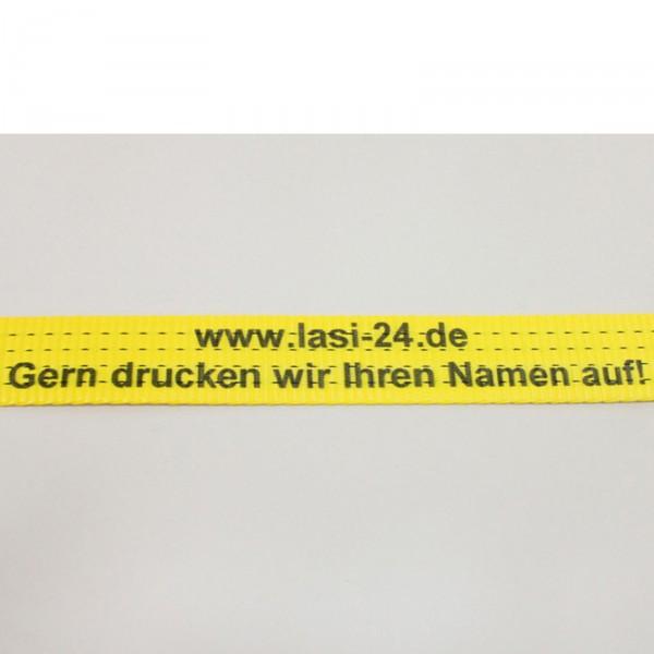 10x bedruckte Zurrgurte LC 2000 daN 0,4 + 7,6 m