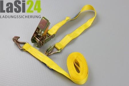 10x Zurrgurt Spanngurt LC 400 daN 0,5+3,5 m gelb