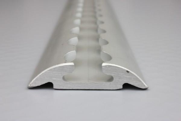 1x Alu Airlineschiene / Zurrschienen blank, halbrunde / runde Form, 1,5 m