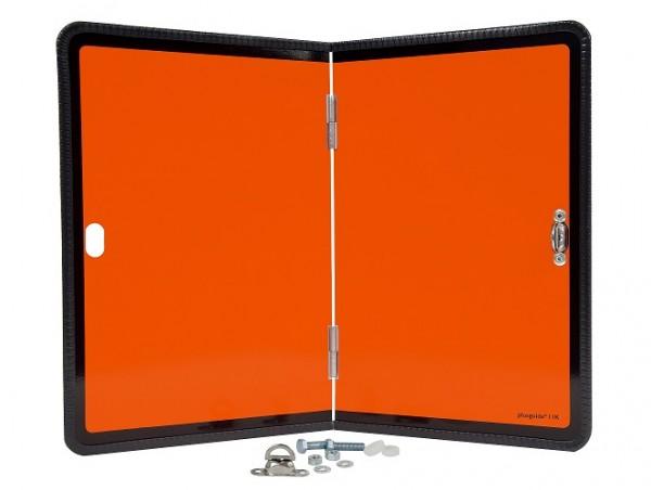Hochwertige ADR Warntafel Stahlblech Kantenschutz Gefahrgut mittig