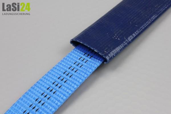 Kantenschutzschlauch dunkelblau gummiert - Meterware