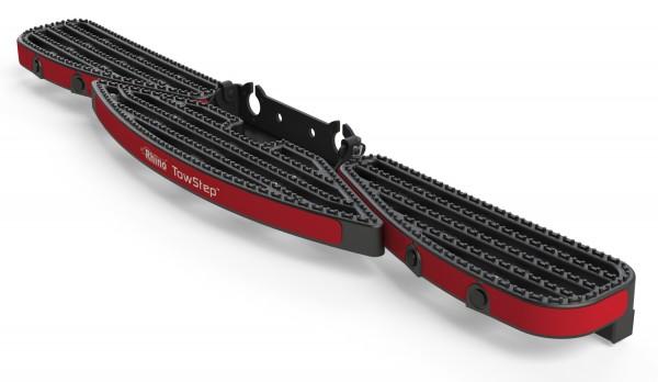 Heckstufe mit Zugvorrichtung TowStep Schwarz | mit Parksensoren Connect+