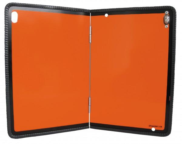 Hochwertige ADR Warntafel Stahlblech Kantenschutz Gefahrgut rechts