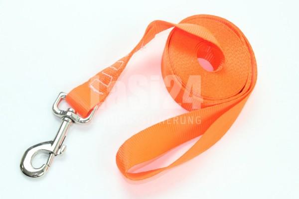 Hundeleine - Laufleine - Schleppleine - Fährtenleine - Suchleine 5 m NEON Orange