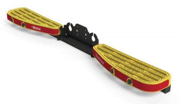 Heckstufe mit Zugvorrichtung TowStep Duo Gelb | mit Parksensoren Universal