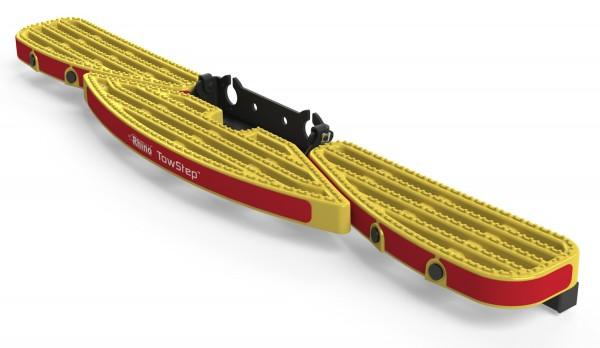 Heckstufe mit Zugvorrichtung TowStep Gelb | mit Parksensoren Connect+