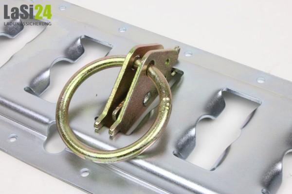 10x Fitting mit Ring für Kombischiene - Anker Kombi Zurrschiene
