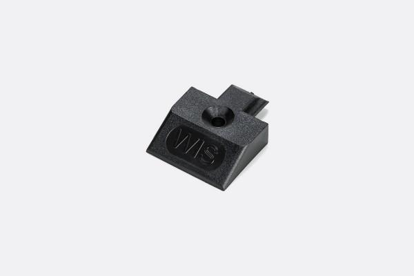 1x Endkappe Einsteckkappe für Airlineschiene Zurrschiene eckige Form schwarz