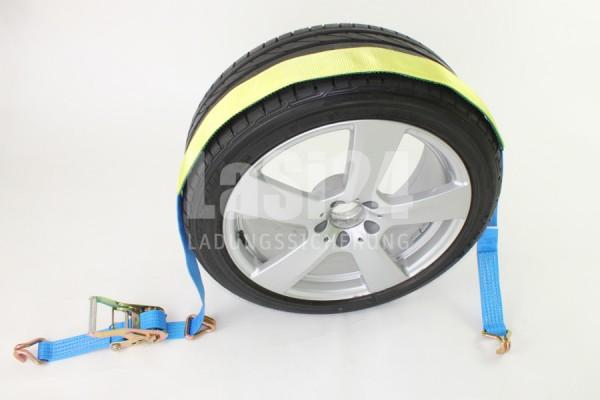 4x 2 tlg. Autotransportgurt Blau
