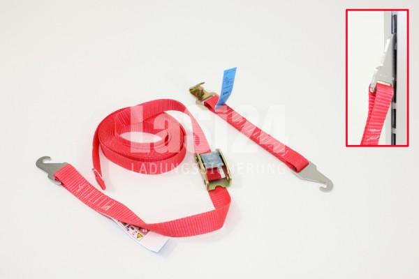 2tlg Spanngurt mit Schnellspann Klemmschloss für SORTIMO Schienen 250 daN