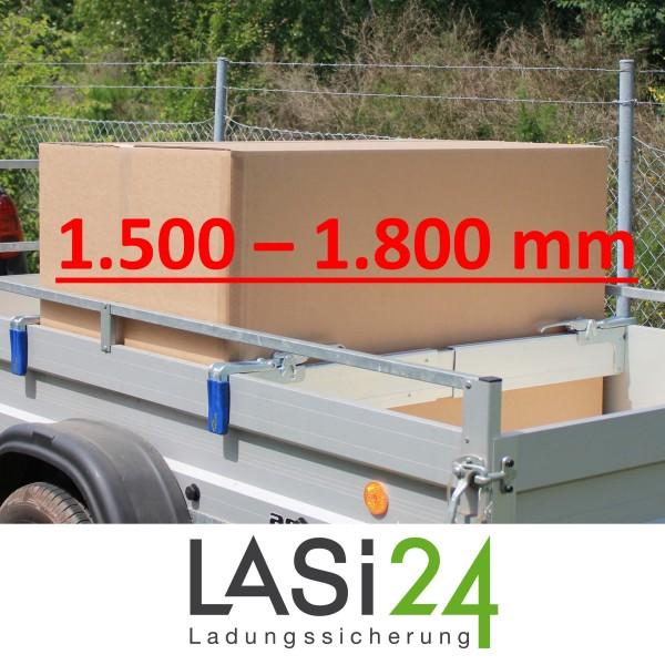 2x Zwischenwandverschluss ALU 1500 - 1800 mm