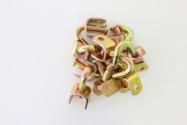 100x Wirbelhaken Spitzhaken Einfingerhaken für Ratsche 35 mm
