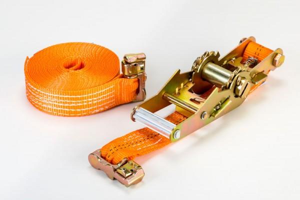Zurrgurt mit Doppelfittng 1000 daN orange