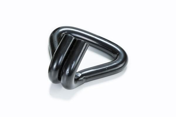 Spitzhaken / Doppelfingerhaken / Drahthaken für 50 mm Spanngurte schwarz