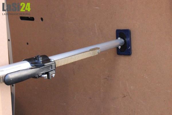 2x Alu-Klemmbalken Gummifuß 1,20-1,57 m