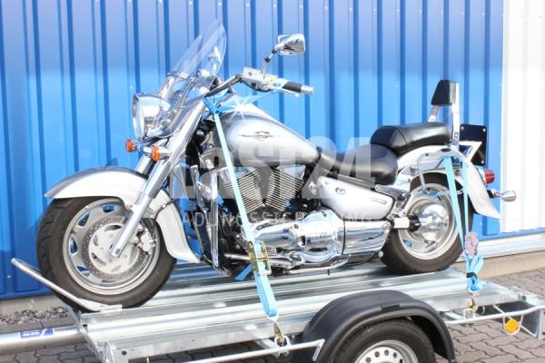Motorradgurt vorn + hinten / Motorrad Zurrsystem komplett, Spanngurt, Zurrgurt