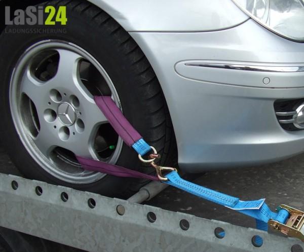 4x Autotransportgurte für Alu-Felgen