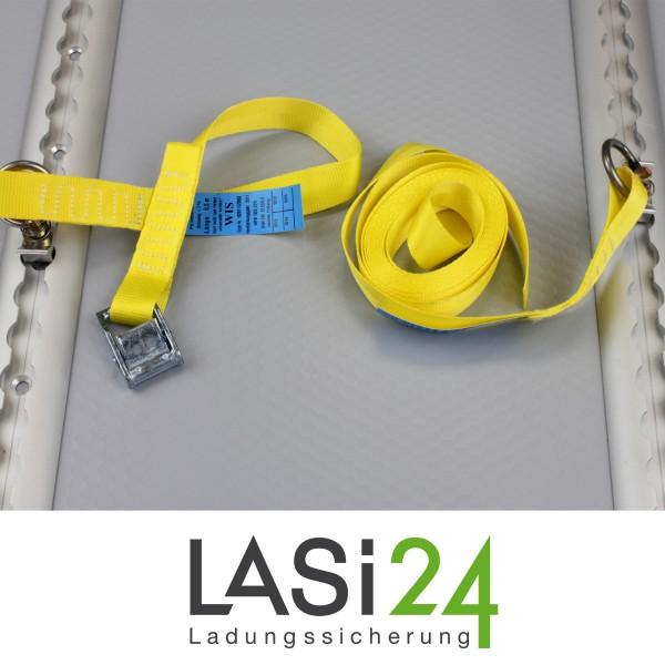 zurrgurt mit klemmschloss 0 5 4 5 m gelb lasi24 ladungssicherung. Black Bedroom Furniture Sets. Home Design Ideas
