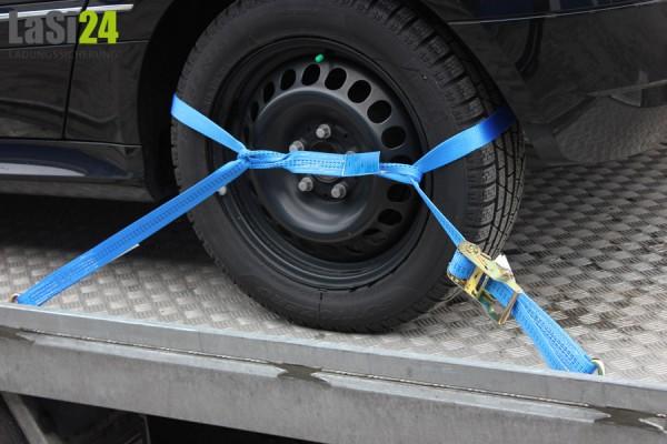 4x Autotransportgurt für alle Felgen