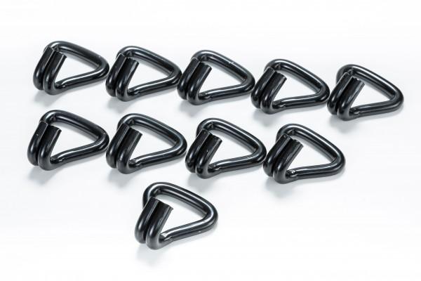 10x Spitzhaken / Doppelfingerhaken / Drahthaken für 50 mm Spanngurte schwarz