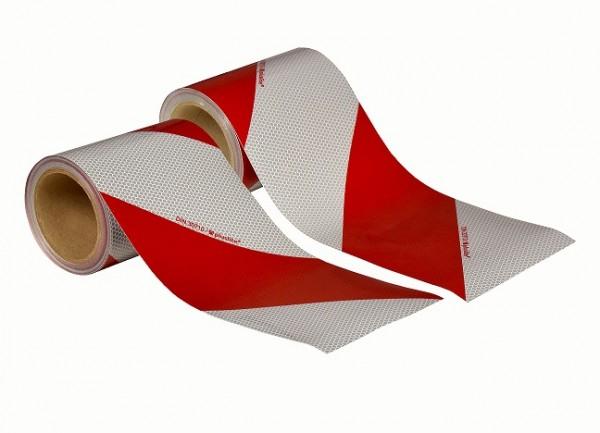 KFZ Warnmarkierung SET 1x links & 1x rechts weiß-rot DIN 30710
